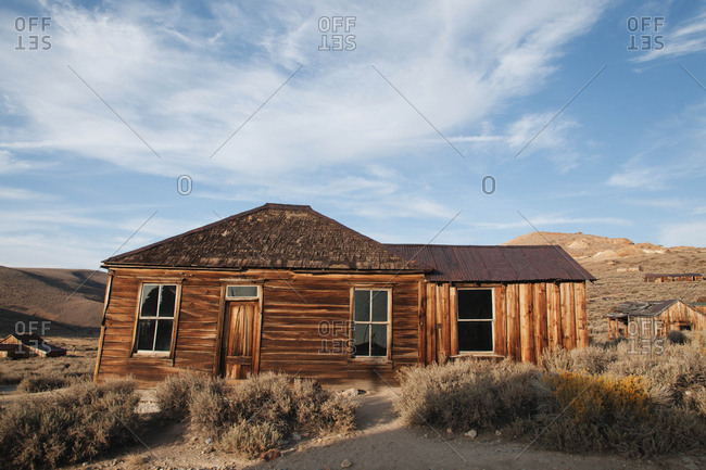 Deserted building in Bodie ghost town