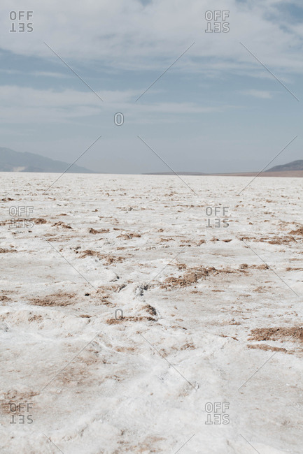 Salt flats in Badwater Basin in Death Valley National Park