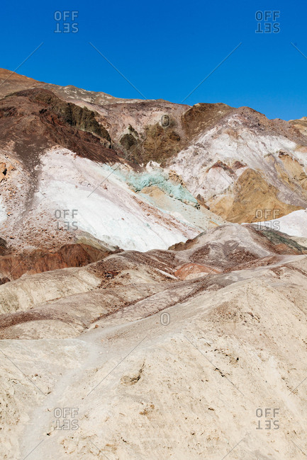 Colorful rock formations in the mountains of Death Valley