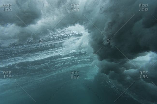 Low angle view of waves in sea