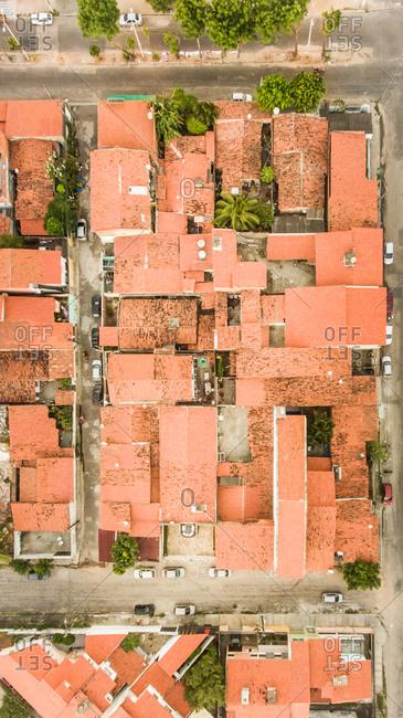 Aerial view of neighborhood in Brazil.