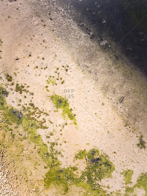 Abstract aerial view of Frisian Islands, The Netherlands.