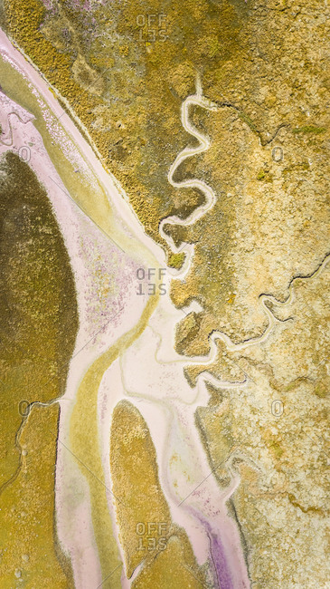 Abstract aerial  view of Terschelling in the Netherlands.