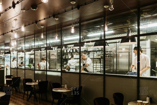 Chefs at restaurant in Sweden