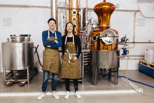Small business owners of gin distillery in Sweden