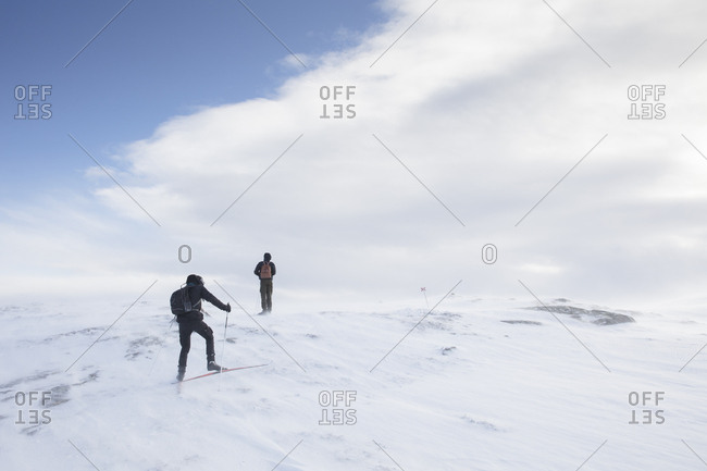 Skiers in Are, Sweden
