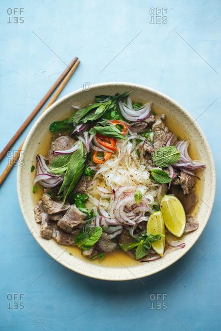 Homemade Vietnamese pho bo