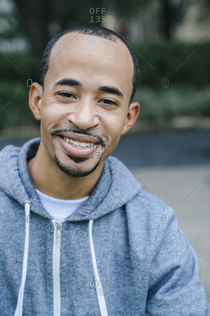 Portrait of smiling Black man with goatee