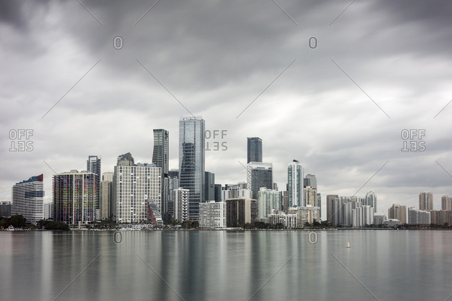 Miami, Florida, USA - 03 Feb 2018: General view of the financial and residential district of Brickell