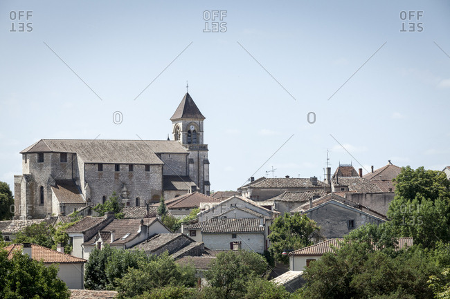 Lalbenque, France: July 29, 2012:  General view of the town