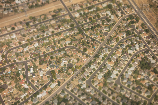 Bird's eye view neighborhood in Casper, Wyoming