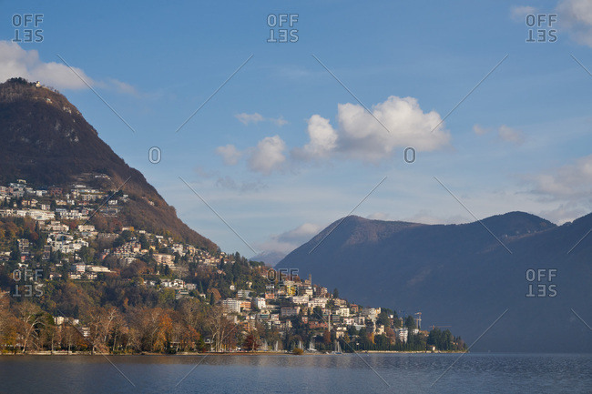 Lugano, Switzerland in the Swiss Alps