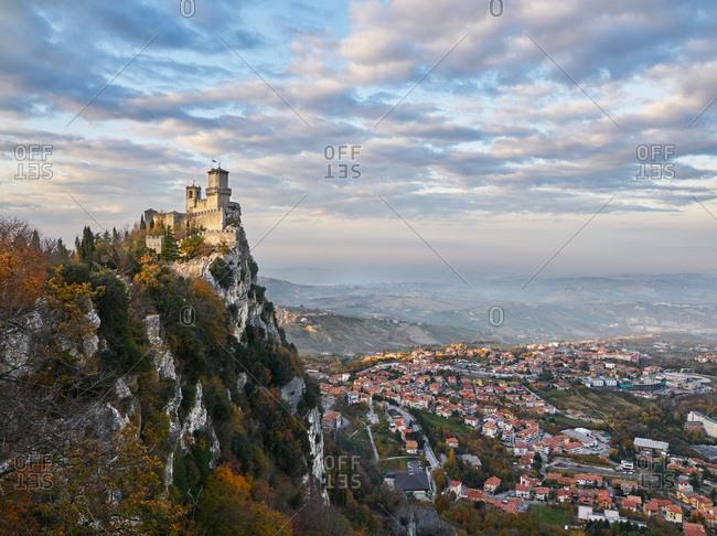 Fortress of Guaita overlooking San Marino, Europe