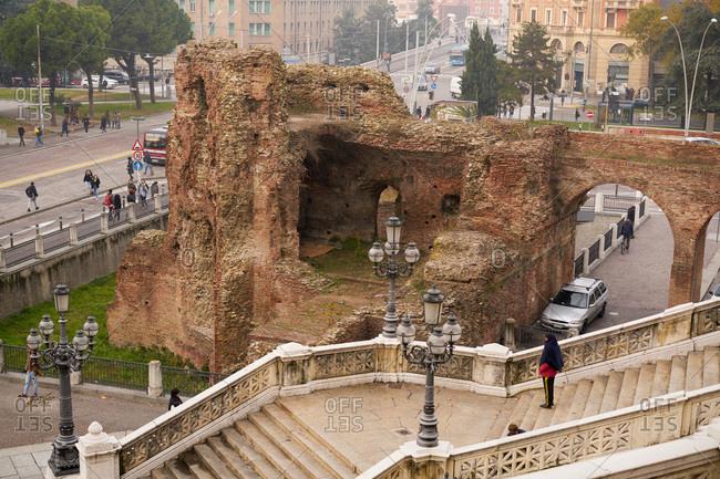 Bologna, Italy - November 25, 2017: Castello di Galliera ruins