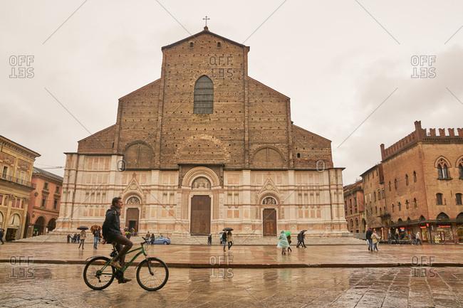 Bologna, Italy - November 26, 2017: San Petronio Basilica