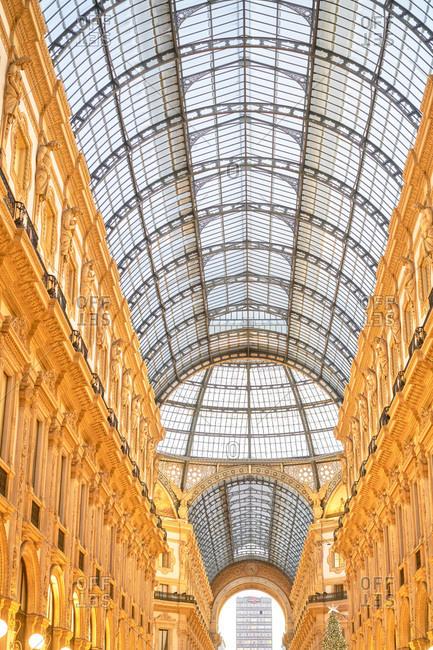 Milan, Italy - November 27, 2017: Galleria Vittorio Emanuele II, Milan, Italy