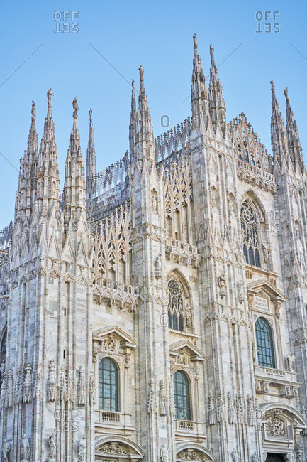 Low angle view of the Milan Cathedral, Milan, Italy