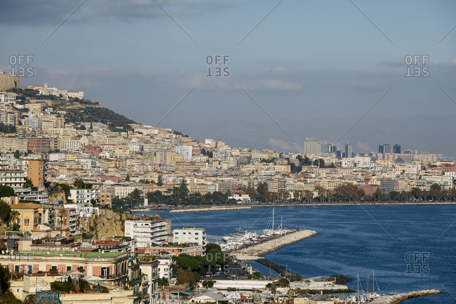 View of the skyline of Naples, Italy