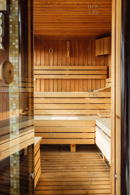 Inside of sauna in SPA center