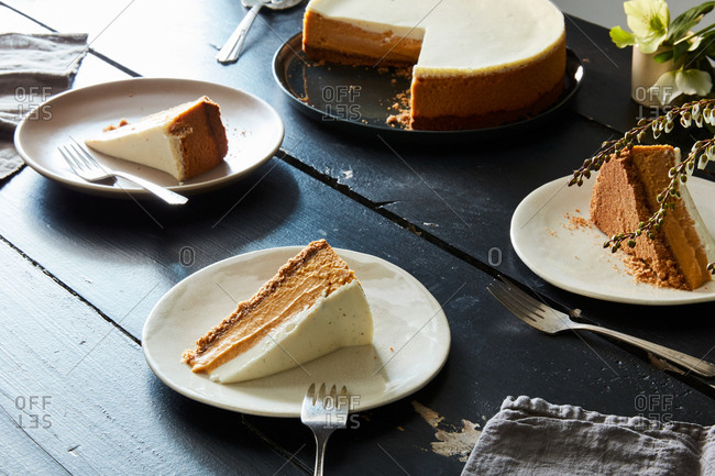 Butternut squash spice cheesecake