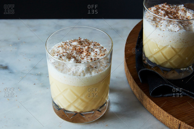 Eggnog holiday drinks