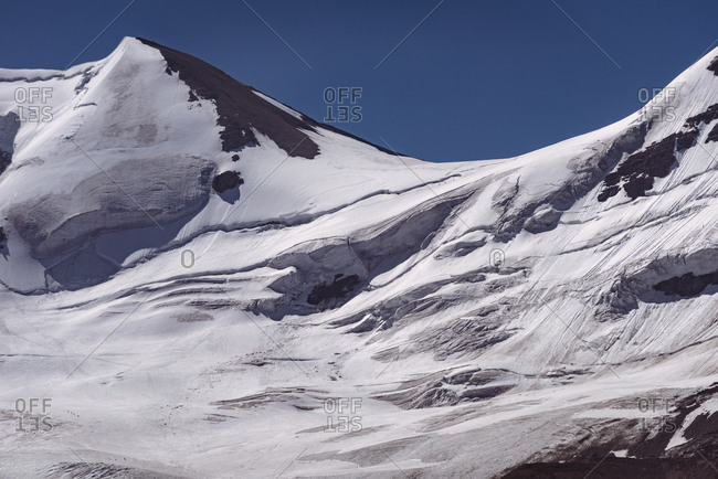 Beautiful snow capped mountain on a sunny day
