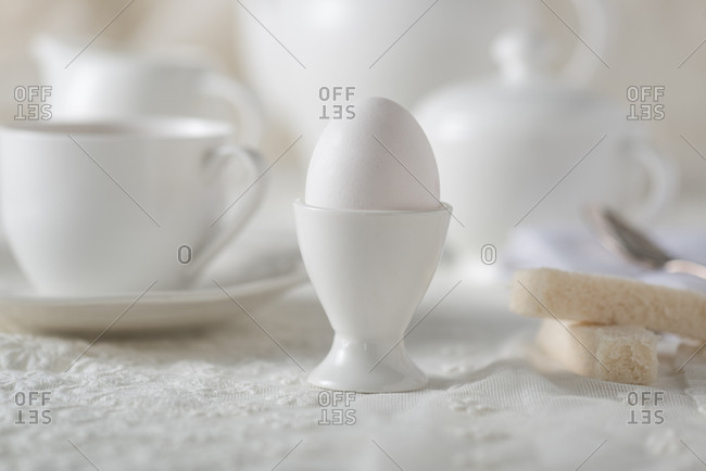 Soft boiled egg in egg cup