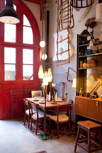 Stockholm, Sweden - September 5, 2008: Interior of a converted fire station