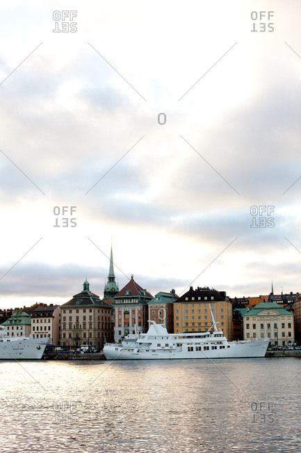 Stockholm, Sweden - September 5, 2008: View of Ship in the river in Stockholm