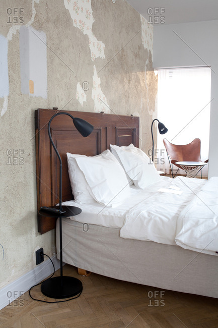 Stockholm, Sweden - September 6, 2008: Hotel room interior