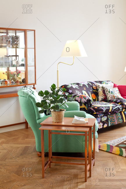 Stockholm, Sweden - September 6, 2008: Sofa and chair in a home interior design store