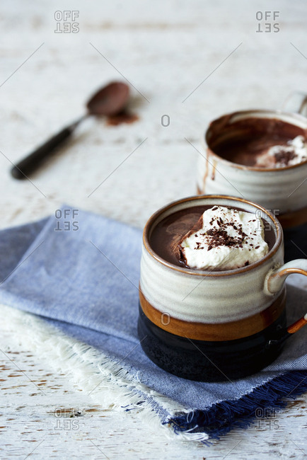 Hot cocoa with cream - Offset