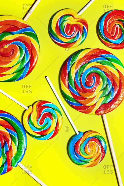 Swirly lollipop pop