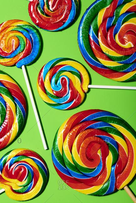 Swirly lollipop pop