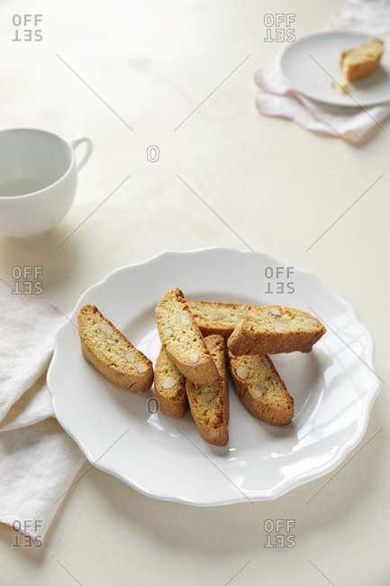 Biscotti on plate