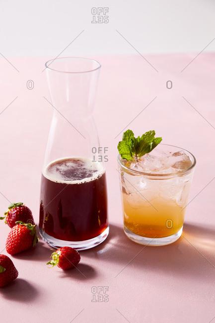 Strawberry shrub drink