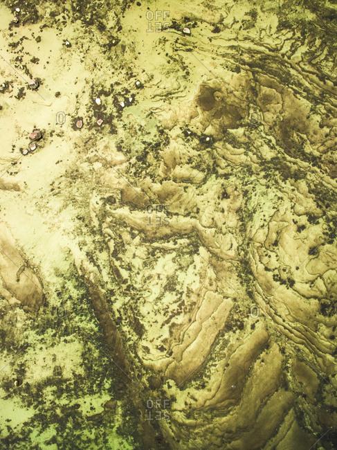 Abstract aerial view of greenish baltic sea in Estonia
