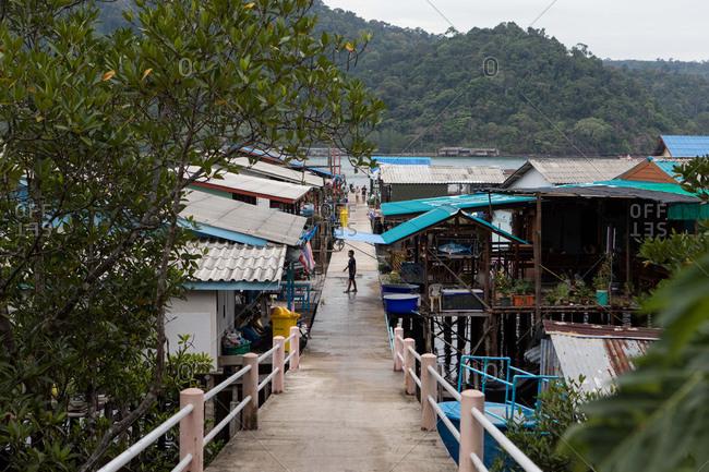 Koh Kood, Thailand - April 3, 2017: Village on the island of Koh Kood, Thailand