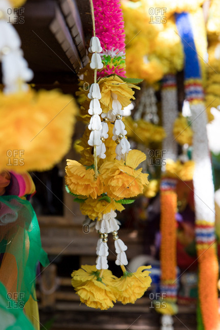 Traditional flower offerings in Koh Samui, Thailand