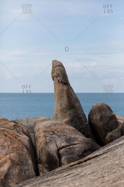 Hin Ta and Hin Yai Rocks in Koh Samui, Thailand