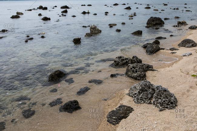 Rocky beach in Koh Samui, Thailand