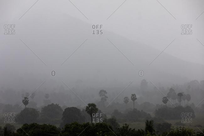 A tropical storm passes over Koh Samui, Thailand