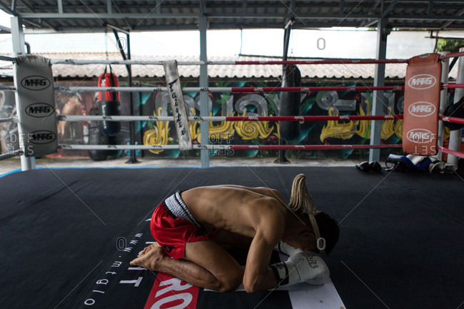 Koh Samui, Thailand - October 7, 2017: Muay Thai in Koh Samui, Thailand
