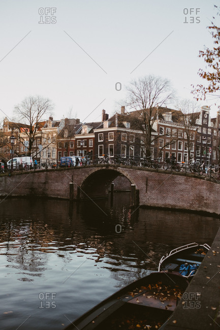 Amsterdam, Netherlands - November 17, 2017: Historic bridge