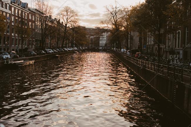 Amsterdam, Netherlands - November 17, 2017: Amsterdam canal