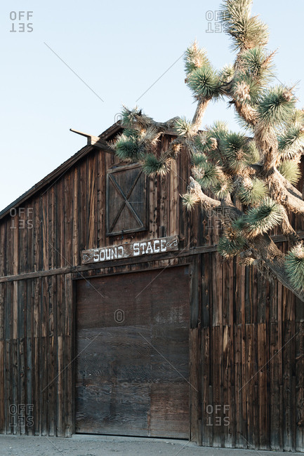 Old western sound stage