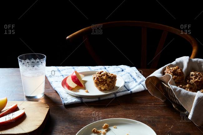 Vegan date nut oat cake