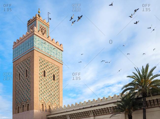 Minaret of Moulay El yazid Mosque, Marrakesh, Marrakesh-Safi, Morocco