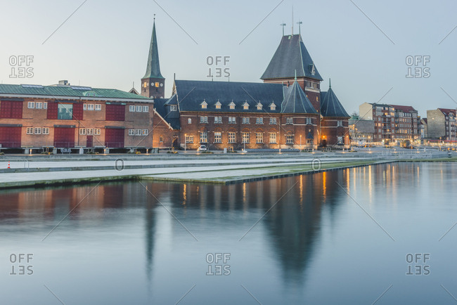 Denmark- Aarhus- view to harbor and custom house
