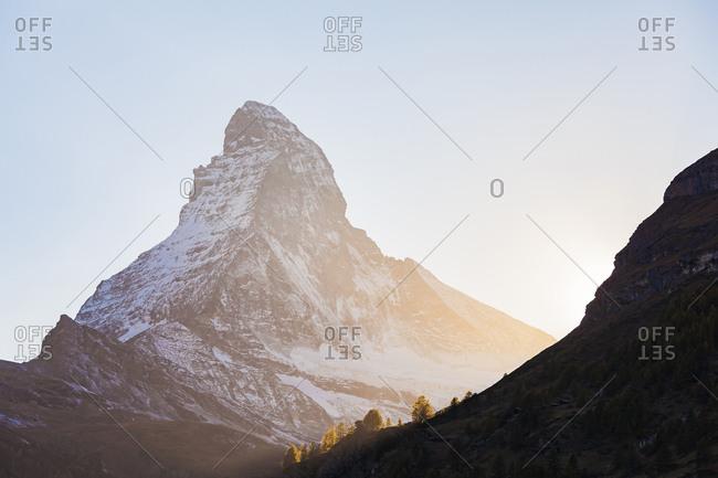 Switzerland- Valais- Zermatt- Matterhorn in the morning